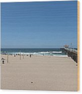 Ca Beach - 12123 Wood Print