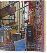 Ca De Vin Wood Print by Mamie Thornbrue