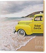 Cab Fare To Maui Wood Print