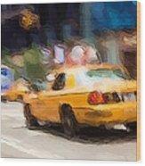 Cab Ride Wood Print
