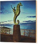 Caballeo Del Mar Wood Print