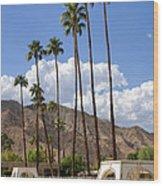 Cabanas Palm Springs Wood Print