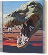 Cabazon Dinosaur Wood Print