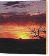 Cabazon Sunset Wood Print