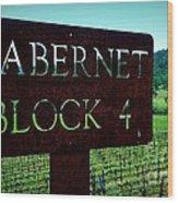 Cabernet Block 4 Wood Print