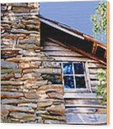 Cabin At Mabry Mill Wood Print