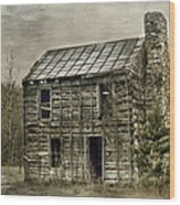 Cabin By The Track Series II Wood Print
