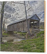 Cabin Creek Covered Bridge Wood Print