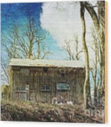 Cabin Fever Wood Print