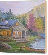 Cabin Home Wood Print