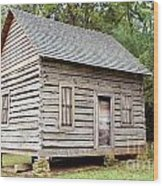Cabin In Pittsboro Nc Wood Print