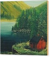 Cabin In The Catskills Wood Print