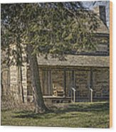 Cabin In The Wood Wood Print