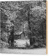 Cabin In The Woods  Wood Print by Kim Galluzzo Wozniak