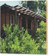Cabin Near Taal Lake Wood Print