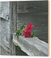 Cabin Rose Wood Print