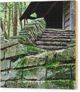 Cabin Staircase - Buttermilk Falls Wood Print
