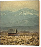 Cabin With Mountain Views Wood Print