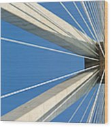 Cable Bridge Abstract Wood Print