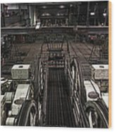 Cable Car Barn In San Francisco Wood Print