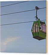 Cable Car In Zaragoza Wood Print