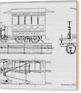 Cable Car Patent, 1873 Wood Print