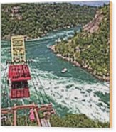 Cable Car Whitewater Wood Print