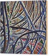 Cable Jungle Wood Print