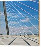Cable-stayed Bridge, Arthur Ravenel Jr Wood Print