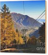 Cableway In Autumn Wood Print