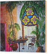 Cabo Cafe Wood Print
