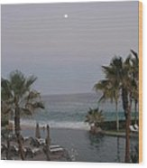 Cabo Moonlight Wood Print