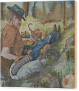 Caboodle Ranch Cats Wood Print