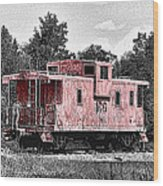 Caboose At Rest Wood Print