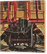 Caboose On The Loose Wood Print