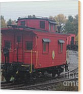 Caboose On The Tracts Wood Print