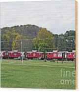Cabooses In Upstate New York Wood Print