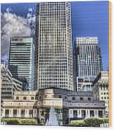 Cabot Square London Wood Print