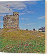 Cabot Tower In Signal Hill National Historic Site In Saint John's-nl Wood Print
