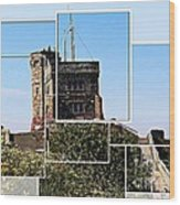 Cabot Tower Montage Wood Print