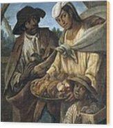 Cabrera, Miguel 1695-1768. De Lobo Y De Wood Print