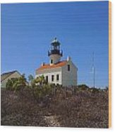 Cabrillo Lighthouse Wood Print by Judy  Waller