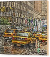 Cabs In The Canyons Wood Print