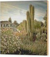 Monterey California Cactus Garden Wood Print