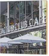 Cactus Club Wood Print