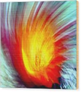Cactus Fire 2 Wood Print