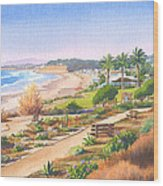 Cactus Garden At Powerhouse Beach Wood Print