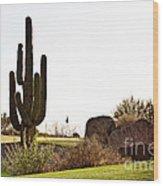 Cactus Golf Wood Print