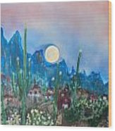 Cactus Valley Wood Print