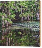 Caddo Dawn Wood Print